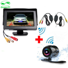 GreenYi Easy Installation Car Parking Monitor with Rearview Camera and Wireless Set to Connect Monitor and Camera