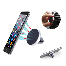 Universal Magnetic air vent mount holder For iPhone 6 6S Plus Desk Car Phone Holder Sticky For Samsung S6 Xiaomi GPS Smartphone(China)