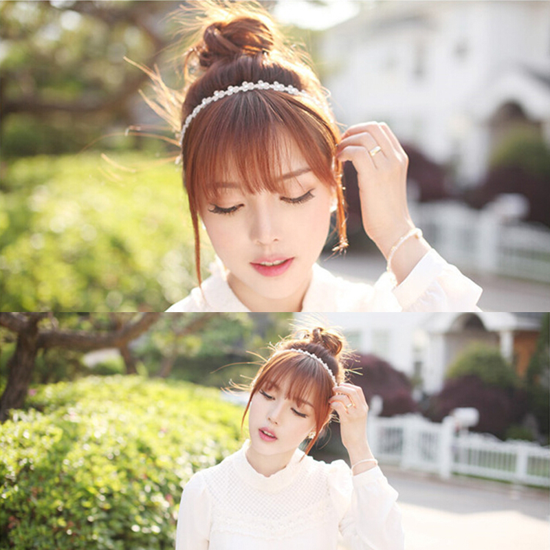 1 PCS Solid Hairband Girl Headbands With Flowers White Lace Fashion Hair Band For Woman Rim Accessories Hair Accessories