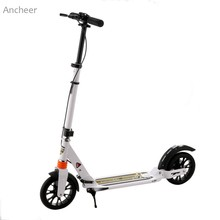 Buy ANCHEER Adult Foldable 3 Levels Scooters Adjustable Height 2-Wheel Kick Scooter Aluminium Alloy Handheld Kick Scooter for $77.93 in AliExpress store