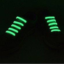 14PCs/Bag No Tie Luminous Elastic Shoelaces Silicone Shoe Lace Unisex Elastic Sport All Running Sneakers Fit Strap Lazy Laces