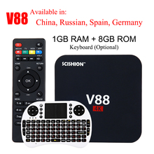 Buy SCISHION V88 4K Android 5.1 Smart TV Box Rockchip 3229 1G/8G 4 USB 4K 2K WiFi Full Loaded Quad Core 1.5GHZ Media Player PK A95X for $27.20 in AliExpress store