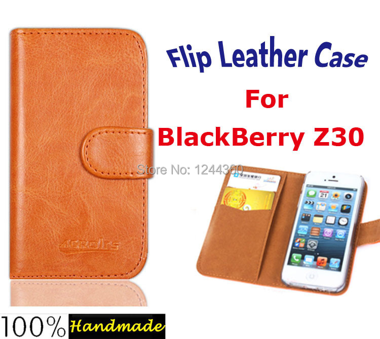 Six colors optional Flip Leather cover case for BlackBerry Z30 smartphones case+Card Holder fresh style+Free Shipping(China (Mainland))