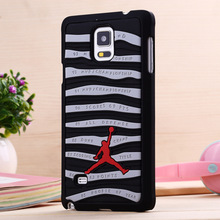 3D Jordan sneakers Sole PVC Stripe Rubber PHONE Cover For Samsung Galaxy Note 4 N9100 5.7 Inch Jump man Phone bag Case cover