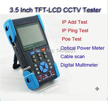 "Free Shipping 3.5"" Full-view TFT LCD Security Camera CCTV Tester w/Video Monitor PTZ Control TDR Tester IP Address Scan PoE Test"