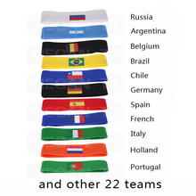 2018 Russia World Cup Theme football fan Headband Soccer Fan Scarf football fan Accessories Brazil National Team Fag Banner(China)