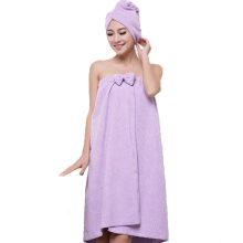 New Cute Soft Microfiber Magic Absorbent Dry Velcro Spa Bath Towel   Hair towel Set Beach Towel Dress Bathrobe For Adults