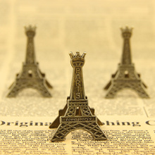 3 PCS Retro Style Paris Eiffel Tower Metal Clips Photo Bookmark Decoration Clip Office Supplies(China)