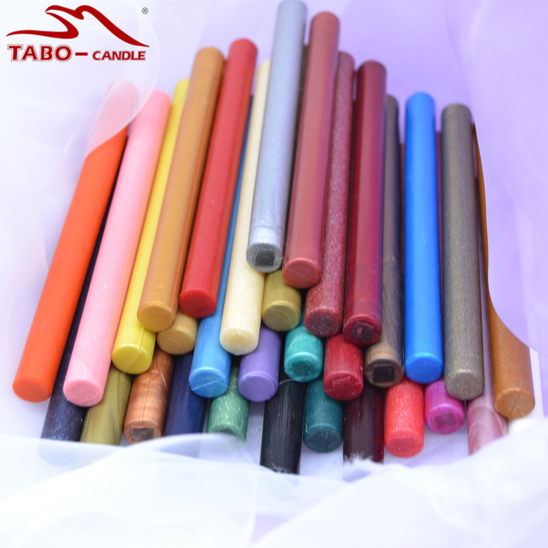 Rod 11*140mm Seal Wax Stick Come In 32 Bright Colors Perfect for Self Wedding Invitation Envelope Letter Decoration - 32 Packs<br>