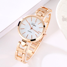 Women Luxury Bracelet Watch LVPAI Fashion Brand Rose Gold Quartz WristWatches Ladies Dress Sport Watch Clock Electronic LP106