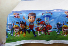 1pc Disposable Table Cloth Cartoon Pawed Patrolling Dog Table Cover Tablecloth Kid Boy Birthday Party Map 108*180cm