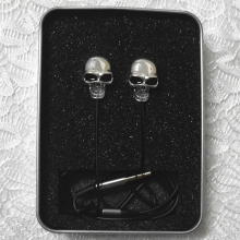 Halloween Cool Style Colorful Earphone 3.5mm Protable Wired Skull In-Ear Earphones For Mobile Phone