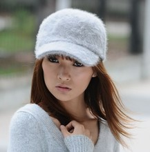 VORON winter warm hat free shipping 2014 new women Rabbit hair caps wholesale baseball caps for +Free shipping+best price