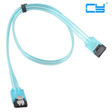 5pcs Super Speed SATA 3.0 III Sata 3 SATA3 6GB/s Hard Disk Drive Cable Blue Durable 50cm cable SATA Cable(China)