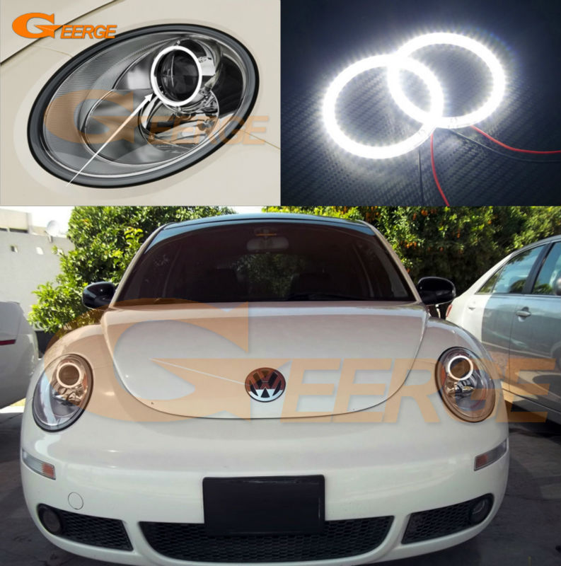 For Volkswagen VW Beetle 2006 2007 2008 2009 2010 Excellent Ultra bright illumination smd led Angel Eyes Halo Ring kit<br>