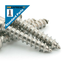 HWEXPRESS Standard 304 Stainless Steel Hexagonal Self-tapping Screws M4*50
