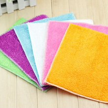High Efficient Anti-grease Color Dish Cloth Bamboo Fiber Washing Towel Magic Kitchen Cleaning Wiping Rags Random Color