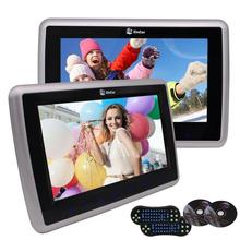 "2 PCS 10.1"" Car DVD Player Headrests Video Wide View LCD Screen Monitor with Remote Control Game Discs Support FM IR Headphone"