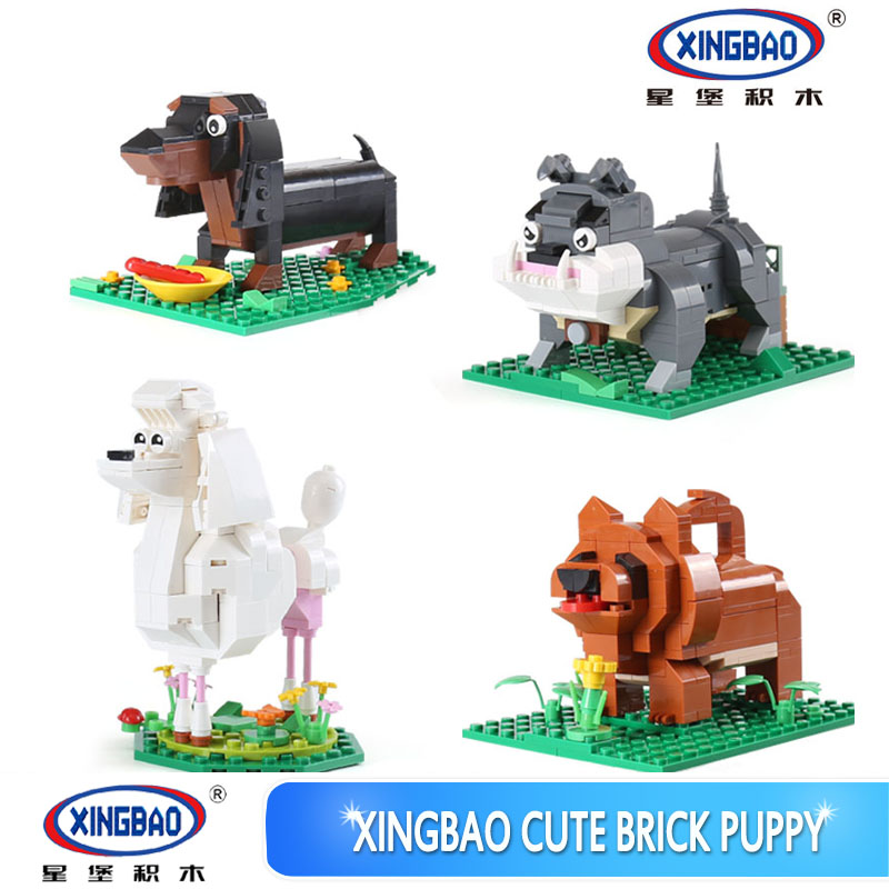XINGBAO 18003 Genuine 620Pcs Cute Puppy The Four Puppys in One Set Building Blocks Bricks Funny Toys For Children As New Gifts<br>