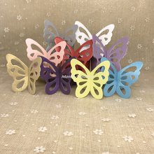 50pcs Metallic laser cut paper Butterfly Paper Napkin Ring Wedding Party Home Decoration Table Decoration decoration mariage(China)