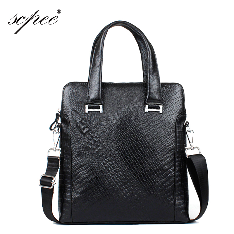 SCPEE Genuine Leather Bag Mens Casual Bag Mens Bag Mens Handbag 2017 New Products<br>