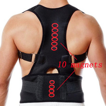 Adjustable Magnetic Therapy Posture Corrector Brace Shoulder Back Support Belt for Male Female Braces & Supports Belt 10 Magnets(China)