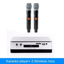 Chinese  HDD  karaoke player machine With 2TB hard driver include 42k songs  plus  wireless microphone karaoke system