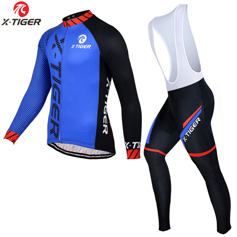 X-Tiger Long Sleeve 2017 Pro Cycling Jersey Set Spring MTB Bike Wear Clothes Men Racing Bicycle Clothing Ropa Maillot Ciclismo<br>