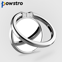 Powstro Metal Finger Ring Mobile Phone Smartphone 360 Degree Stand Holder For iPhone Samsung Smart Phone GPS MP3 Car Mount Stand(China)