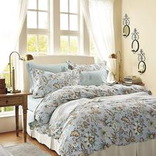 Fashion Classic European-style Small Floral Brand Bedding 4pcs 100%cotton Satin Bedding set /Duvet cover set/ luxury classical