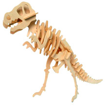 3D Wooden Dinosaur Animal Jigsaw Puzzle Model Toys Kids Children DIY Handmade Jigsaw Puzzles Toy