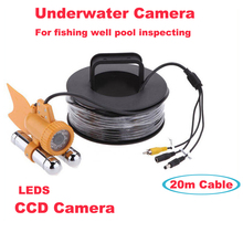 20m Cable HD Underwater Fishing Fish Video Camera 700TVL CCD Camera 24 LED Lights Waterproof IP68 Fish Finder(China)
