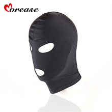 BDSM Bondage Black Mask Sex Product Toy Fetish SM For Couple Men Women Hood Mouth Eye Slave Adult Game(China)