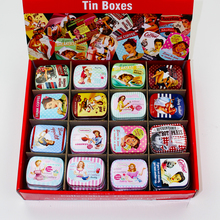 Decorative Tin Storage Box 48piece/lot Square Metal Lipstick Box Container Pure Flower Mac Makeup Cosmetic Trinket Souvenir Box(China)
