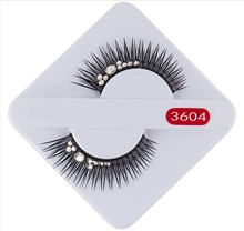 1 Pairs Black Colour Diamond White Eyelashes Extension Lashes Individual EXaggerated Cilios Posticos For Women Make Up Lashes