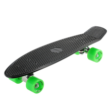 TOMSHOO 22 Inch Skateboard Cruiser Board PU Four-Wheel Street Banana Long Skate Board Mini Skate Board Complete Deck Longboard(China)