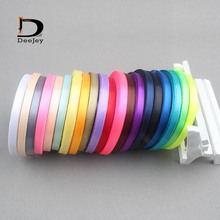 solid color 6mm 1 4 inch satin ribbon belt gift packing wedding decoration 25yards roll 20 rolls mixed colors available(China)
