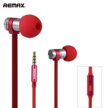 Fashionable Reliable Design Earphone Headphone REMAX RM-565i 3.5mm Plug Stainless Steel Earphone Durable Deep Bass Headset