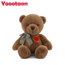 34cm love Teddy bear plush dolls kids toys for baby children high quality gifts stuffed(China)