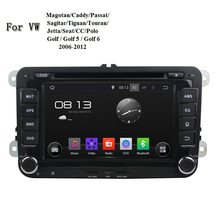 Android 5.1.1 2 Din 7 Inch Special CAR GPS For VW Passat B6 B7 CC Glof  Jetta With Car DVD Player Support Steering Wheel Control