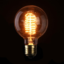 Hot Sale High Quality E27 G95 40W Filament Light Bulb Vintage Retro Antique Style Edison Lamp 110/220V 2pcs/lot