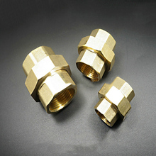 "1Piece 1/2""  Female BSP Malleable Slip Joint Connection Brass Plumbing Pipe Adapter Union Coupling Fitting"