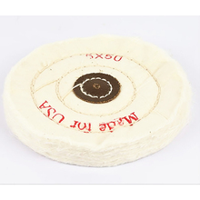 5'' 125mm White Sawing Cloth Polishing Wheel for Various Glazing Machine to Buffing Metals & Grinding Crystal 50 Ply Covers