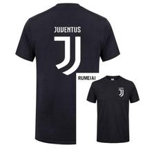RUMEIAI 2017 New Brand Mens T Shirt Cotton Short Sleeve juventus print Fitness T-Shirt Men Homme Classic Casual juventus T Shirt