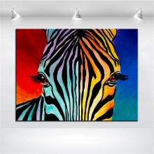 Large size Print Oil Painting Wall painting zebra end Home Decorative Wall Art Picture For Living Room paintng No Frame