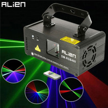 ALIEN Mini Led Rgb Home Stage Lighting Effect DMX Laser Projector With Remote Lumiere Disco Lights Dj Party Stage Light For Sale(China)