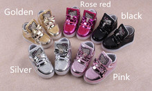 Baby Girls LED Light Shoes Anti-Slip Sports Kids Sneakers Children Lighted Casual Shoes Rhinestone Hello Kitty Girls Led Shoes
