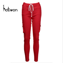Half Discount Factory Price Women Pants Fashion Casual Pencil Pants Dance Slacks Skinny Stretch Trousers(China)