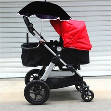 Universal Kids Stroller Pushchair Parasol UV Ray Shade Sun Protection Umbrella Adjustable Folding For Chair(China)