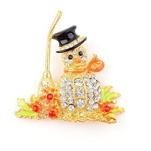 Min Order 10 USD (Mix Item) Promotion Fashion Christmas Snowman Brooches Pins Fashion Items Jewelry(China)